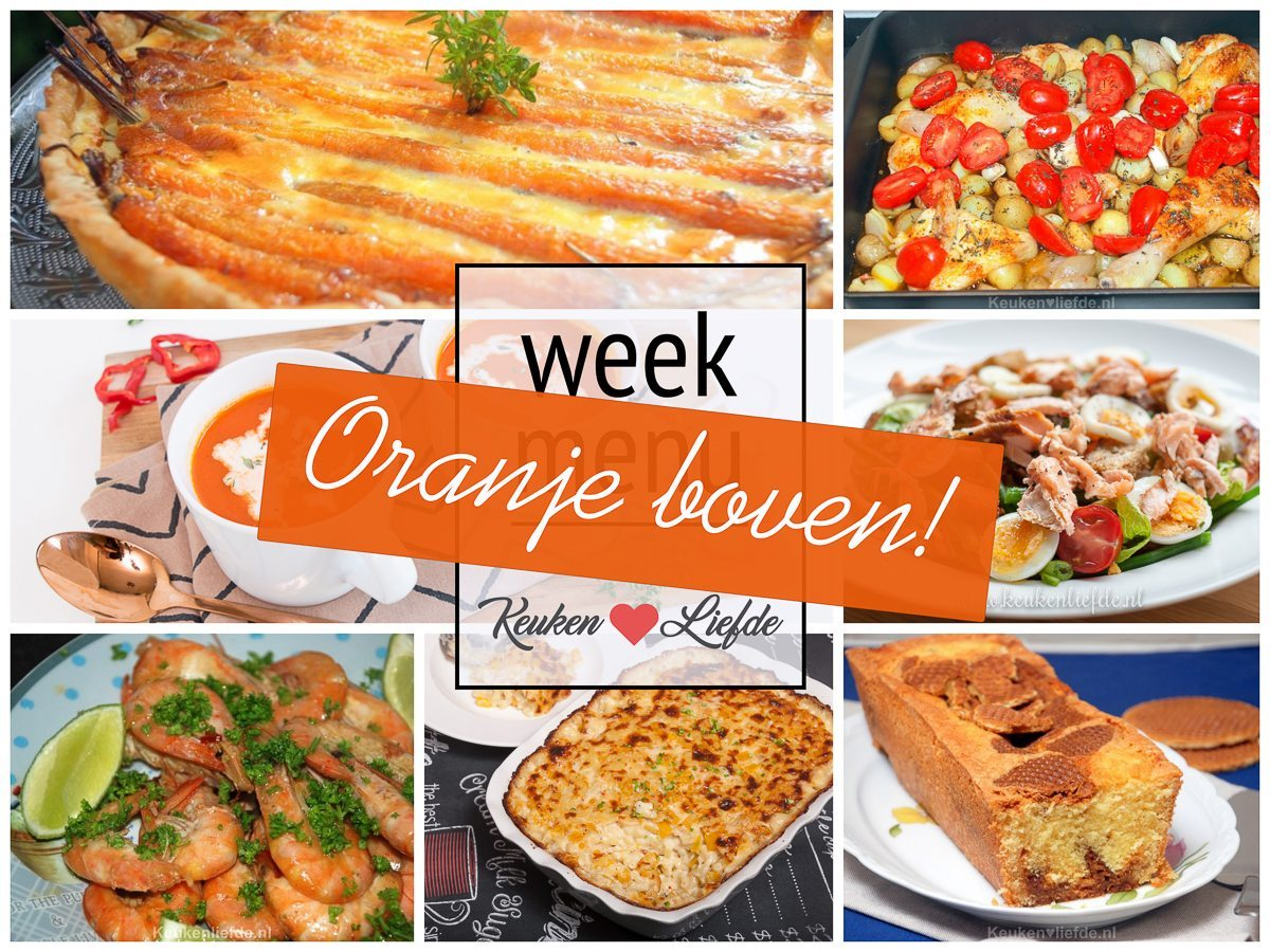 Weekmenu #11 - Alles is oranje!