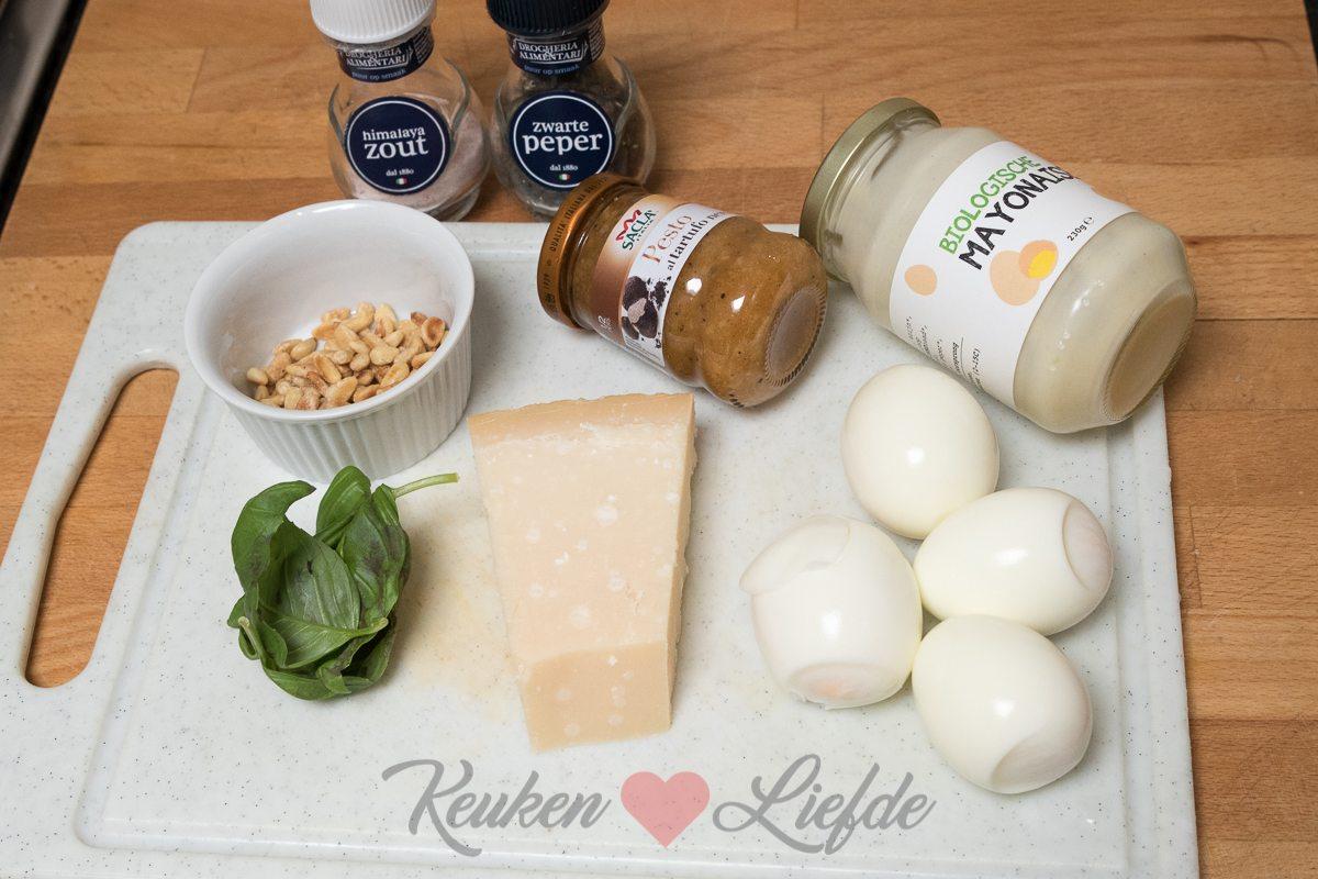 Eiersalade met truffel en parmezaan