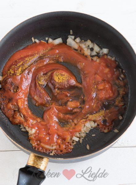 Duitse curryworst