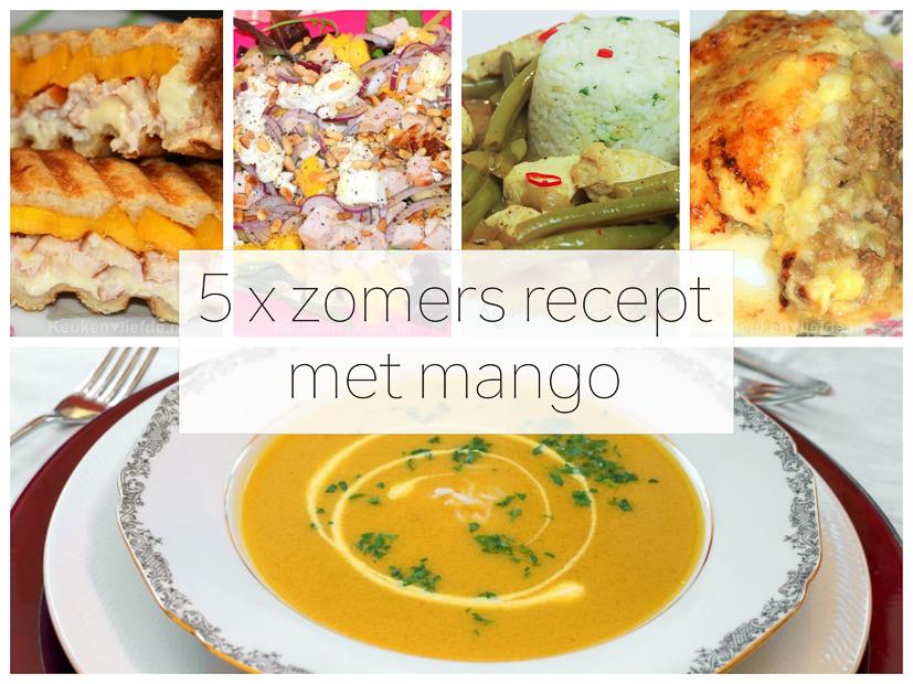 5 x zomers recept met mango