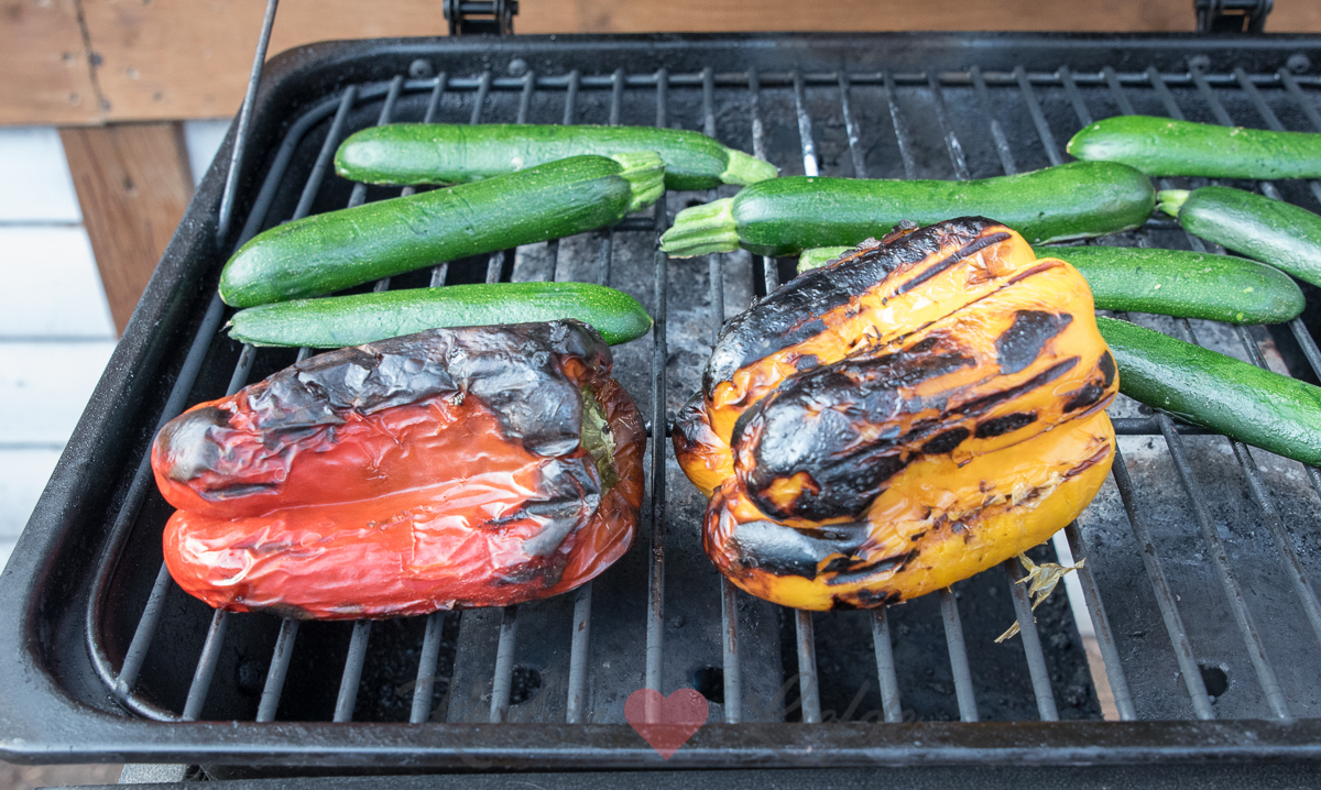 Gegrilde groente van de barbecue