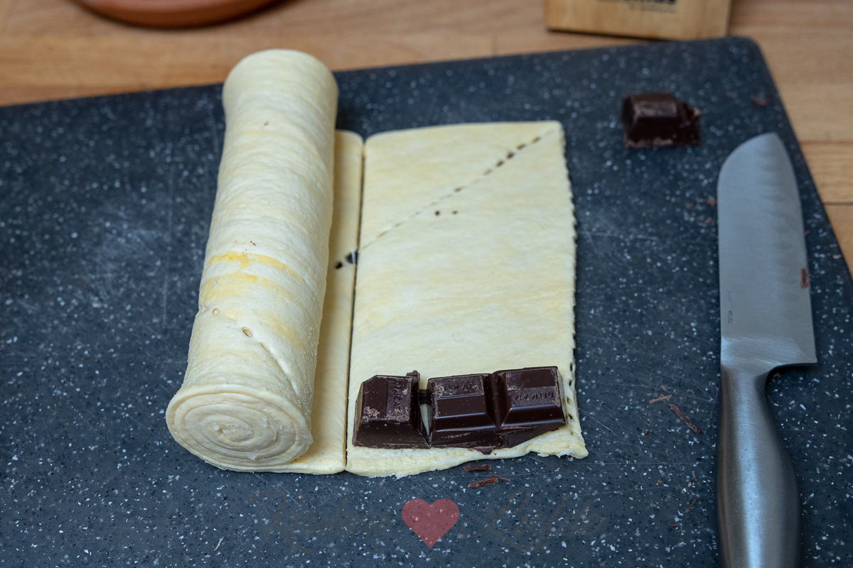 Snelle chocoladebroodjes