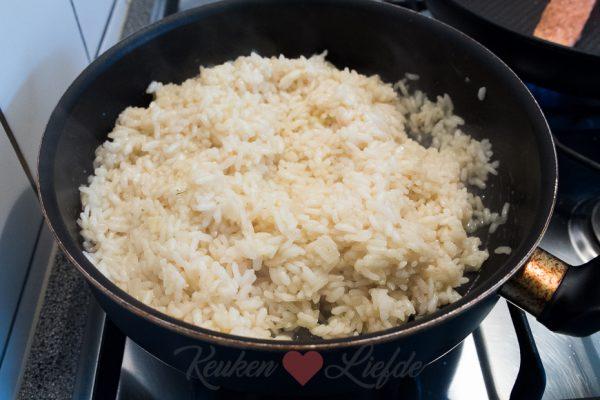 Citroenrisotto met gekarameliseerde wortel en gebakken zalm