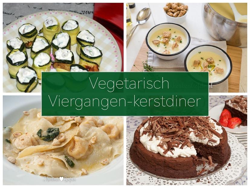 Vegetarisch viergangen-kerstmenu