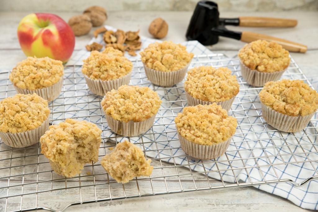 Appel kaneel kruimelmuffins
