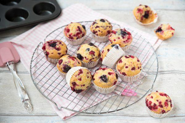 Bosvruchten muffins