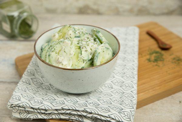 Romige komkommersalade met dille