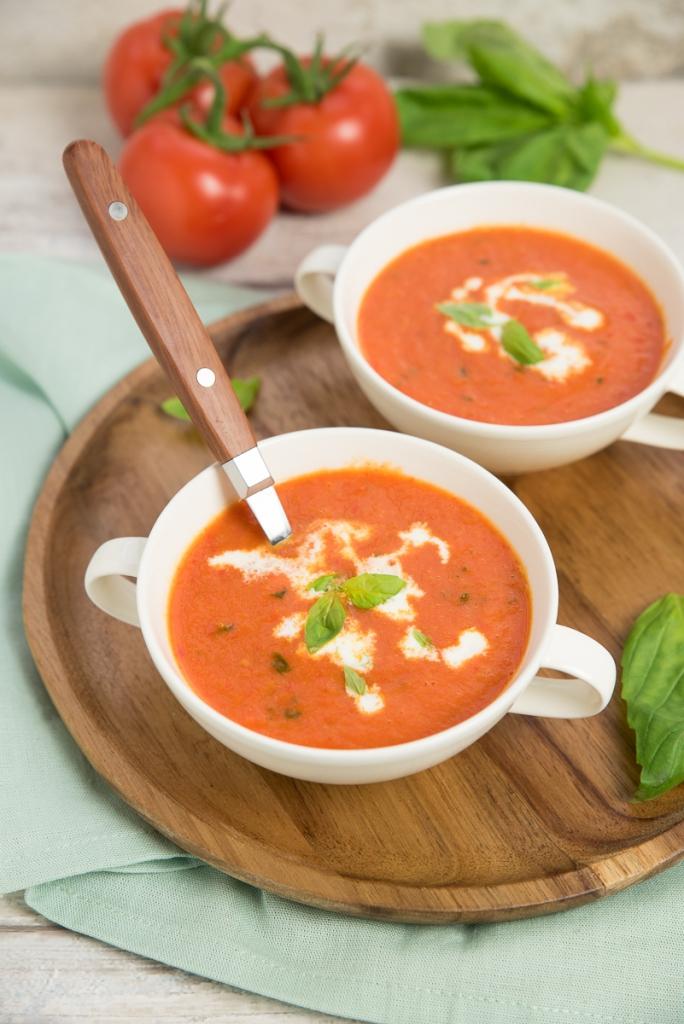 Geroosterde tomaten-paprikasoep