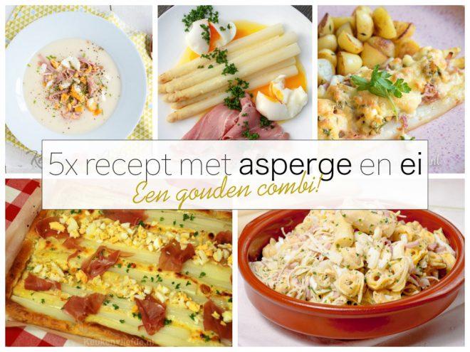 5x recept met asperge en ei - een gouden combi