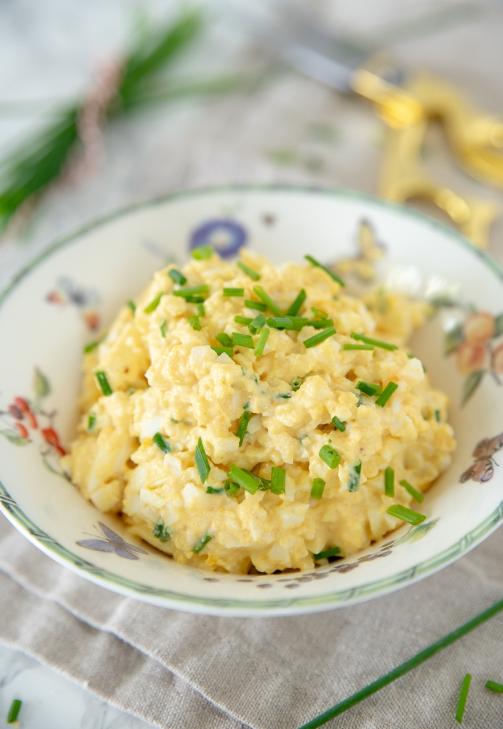 Eiersalade met kerrie en bieslook