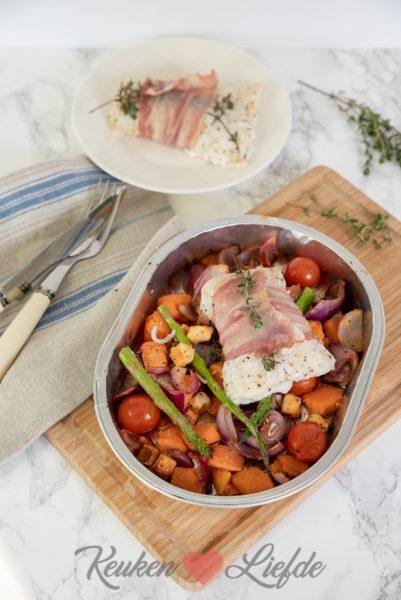 Groente en vis uit de oven