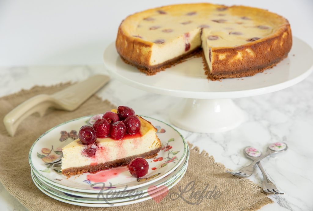 Cheesecake met kersen
