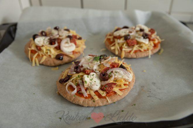 Pitabrood pizza