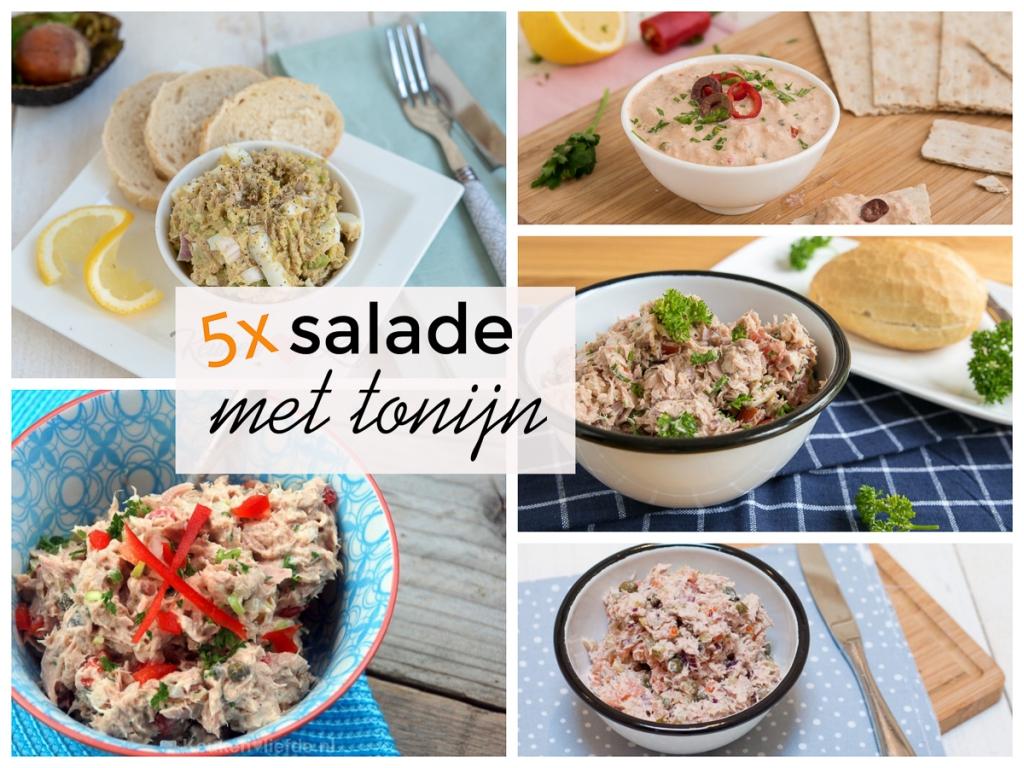 5x salade met tonijn