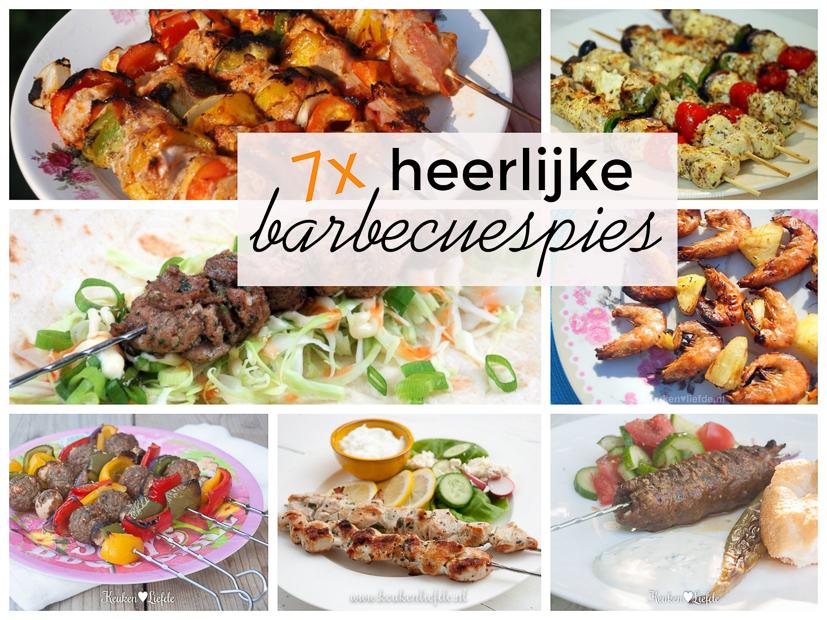7x heerlijke spies voor op de barbecue