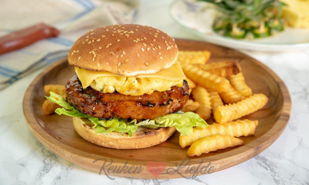 Kipburger teriyaki