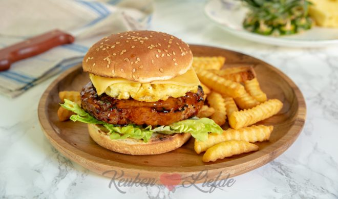 Kipburger teriyaki