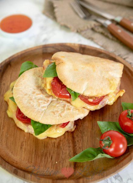Pita tosti met ham en kaas
