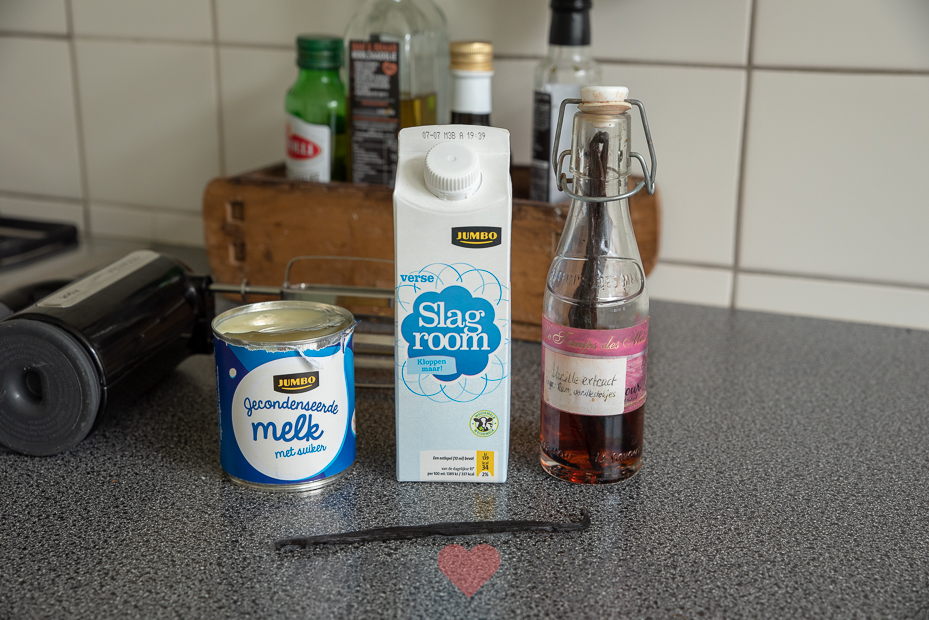 Vanille-roomijs maken zonder ijsmachine