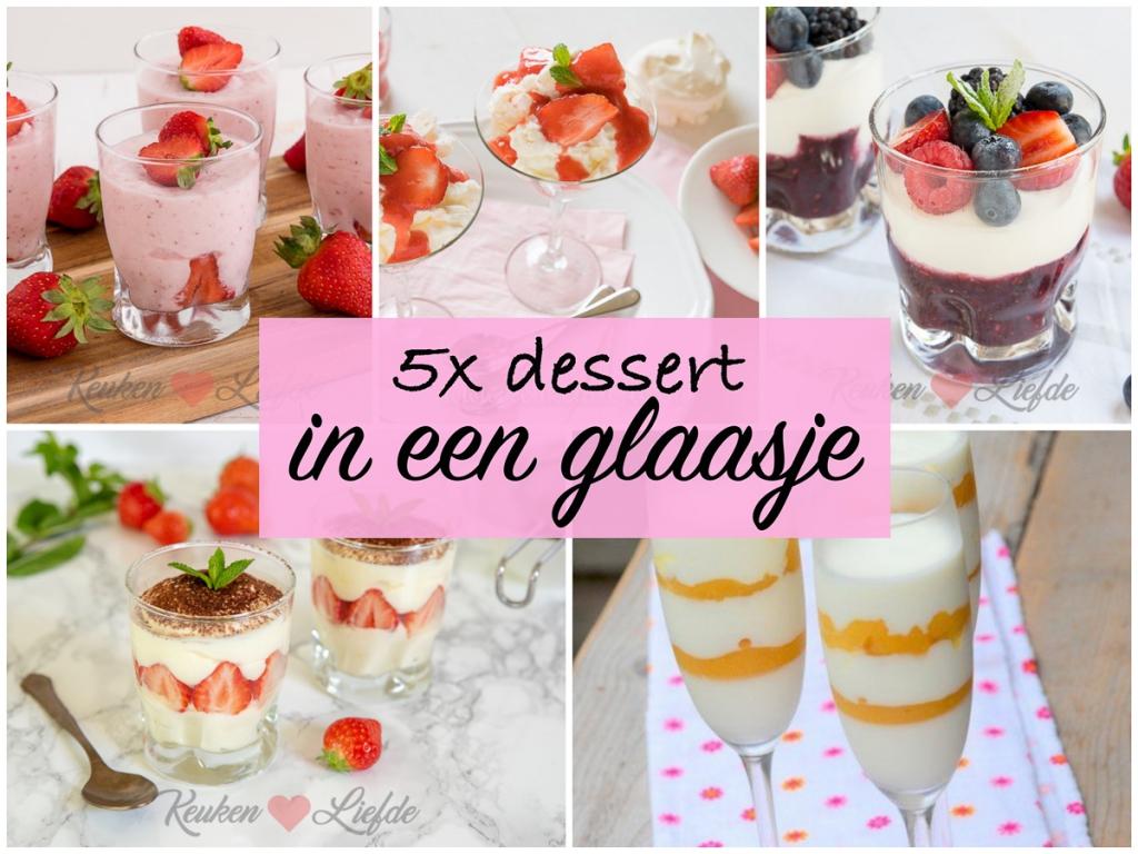5x dessert in een glaasje