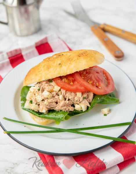 Ciabatta met tonijnsalade van de La Place
