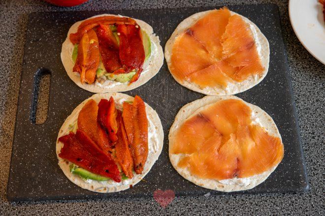 Gerookte zalm quesadilla