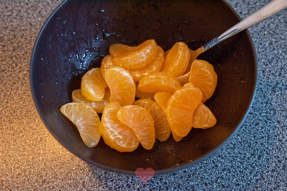 Monchou toetje met mandarijn en kruidnoten