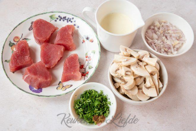 Gourmetpannetje: varkenshaas in champignonroomsaus