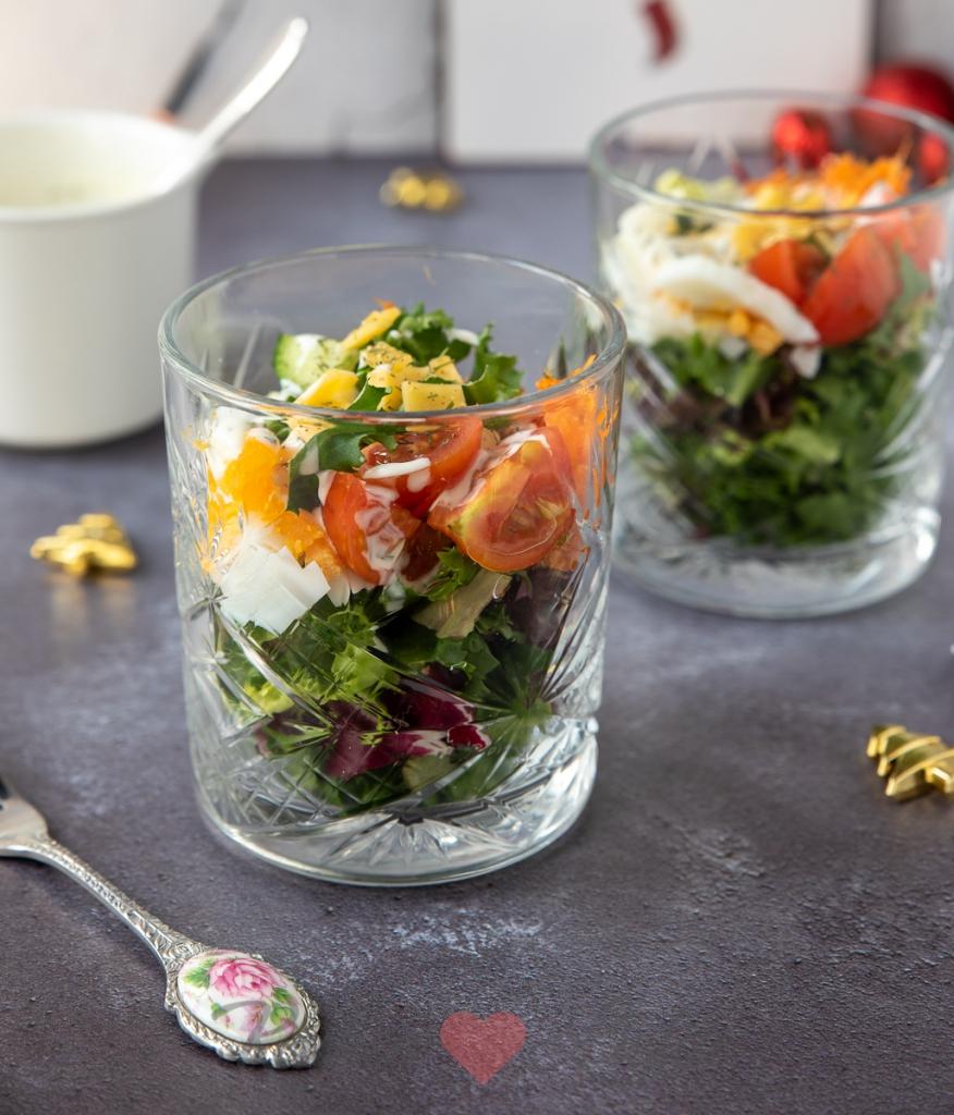 Salade glaasjes