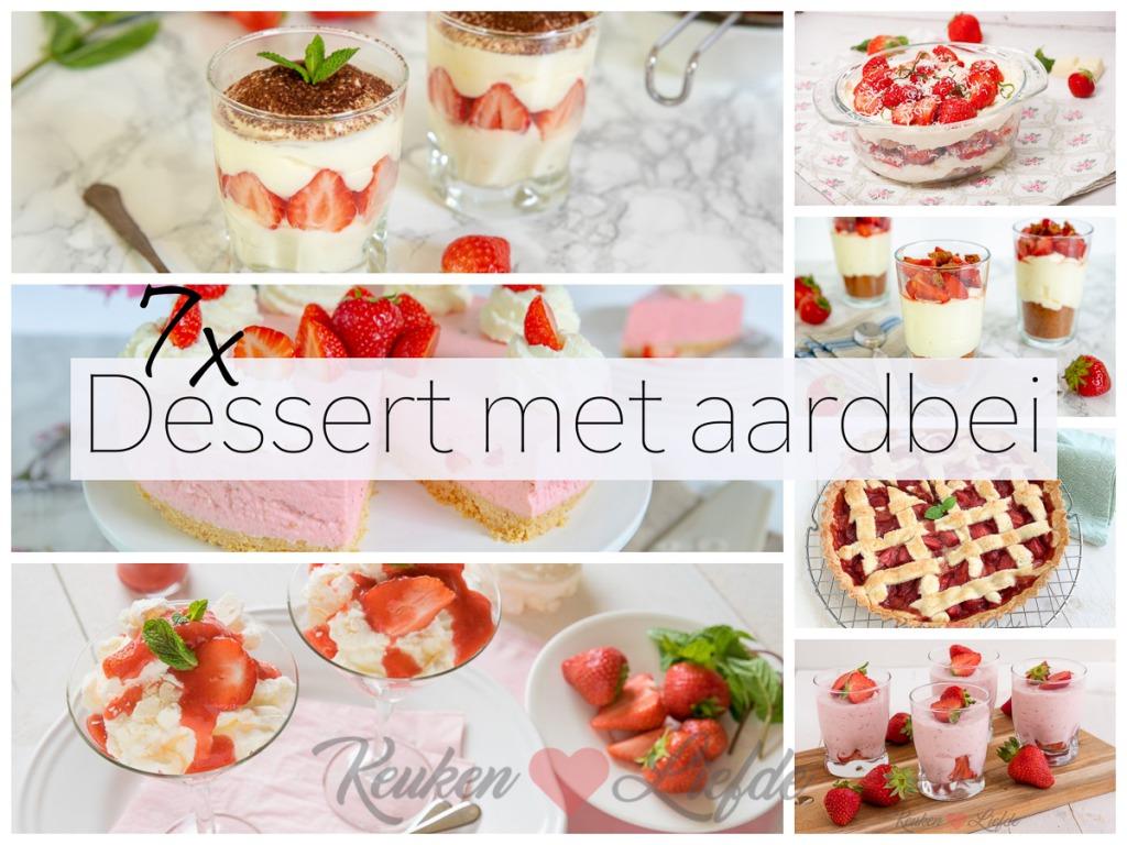7x dessert met aardbeien