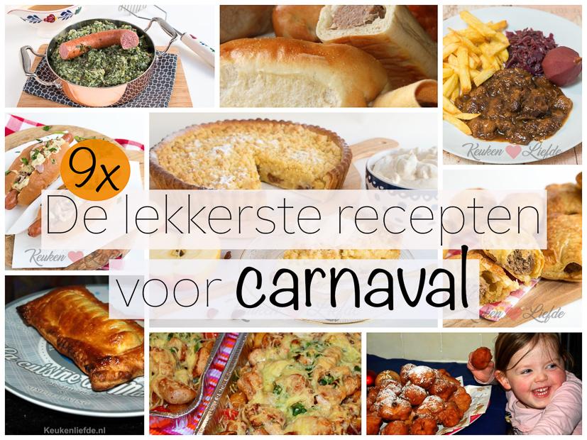 9x de lekkerste recepten voor carnaval