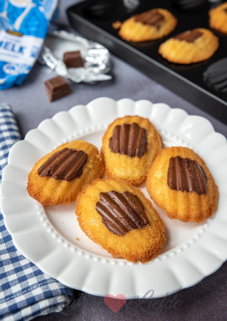 Melkchocolade madeleines