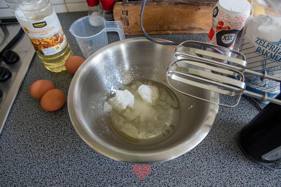 Vanillecake met zonnebloemolie