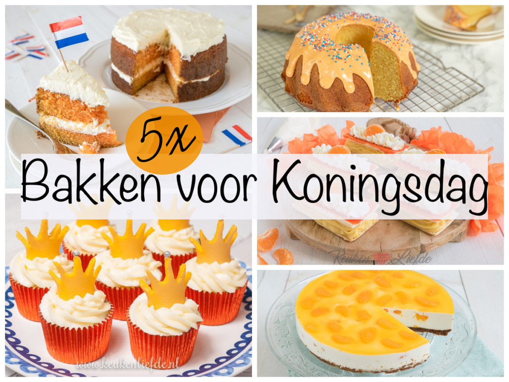 5x bakken voor Koningsdag
