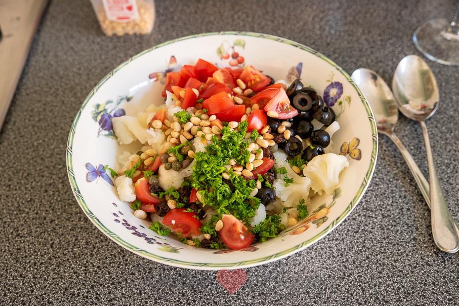 Siciliaanse bloemkoolsalade