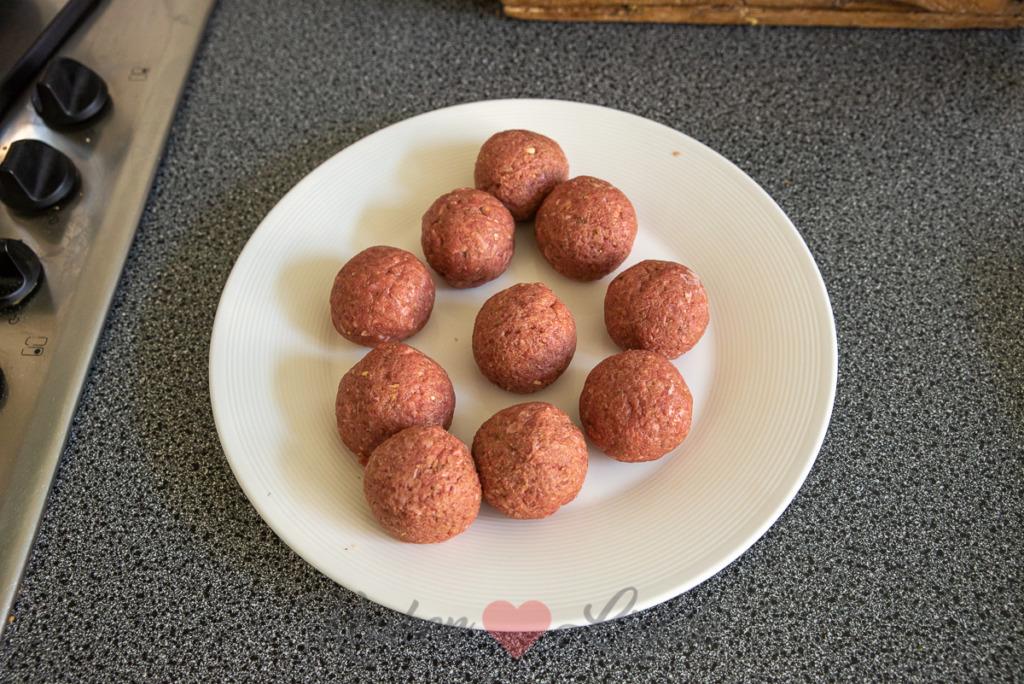 Pesto gehaktballetjes