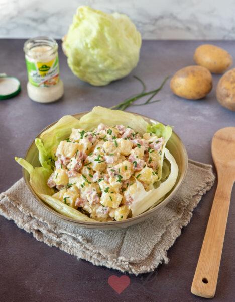 Aardappelsalade met ham