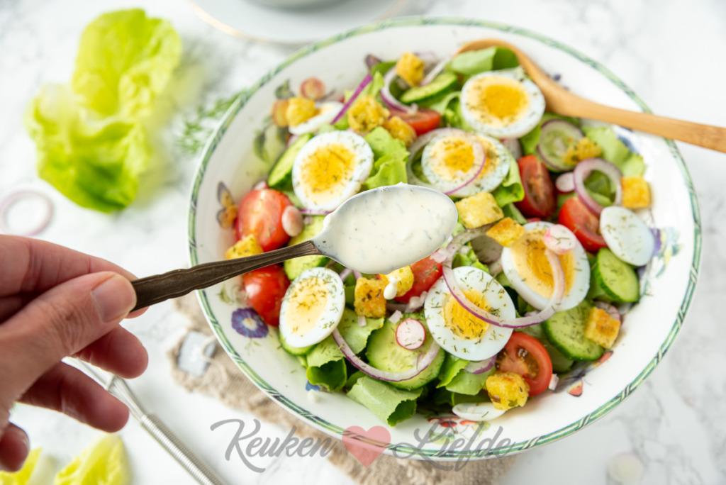 Aangemaakte basis salade