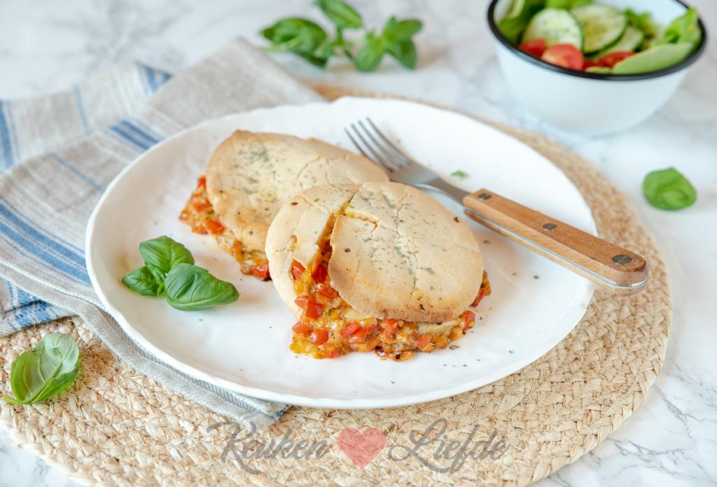 Pita tosti tomaat mozzarella