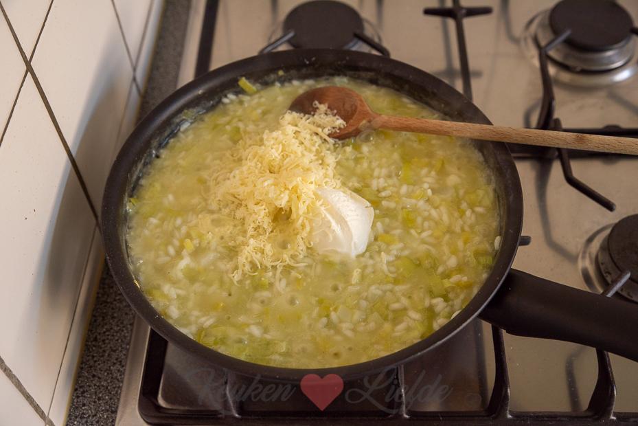 Prei risotto met Parmezaan