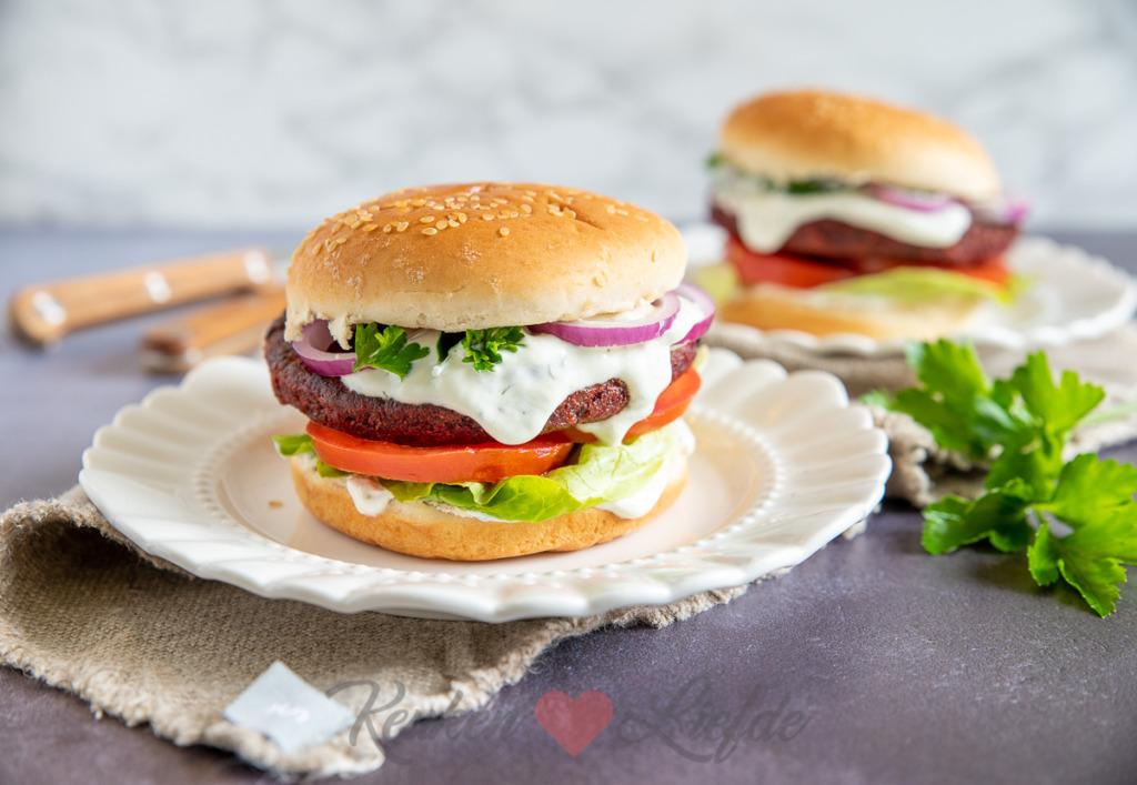 Broodje bietenburger