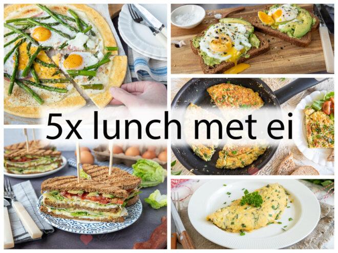 5x lunch met ei