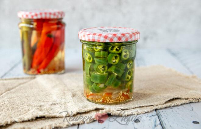 Ingelegde pepers in zoetzuur