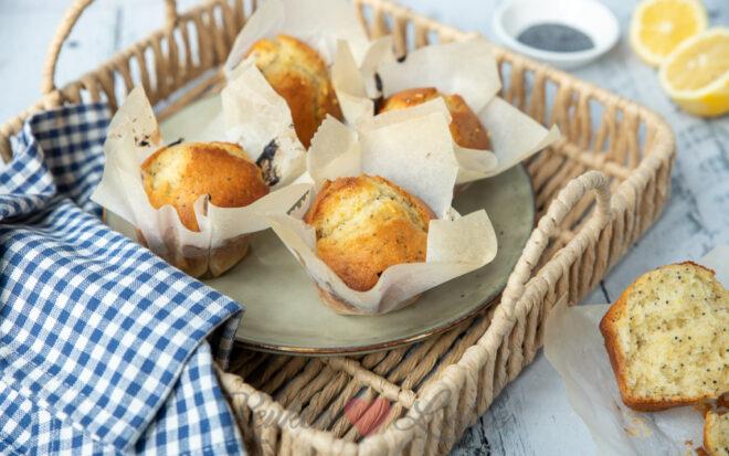 Yoghurt citroen muffins (uit 'Zoet')