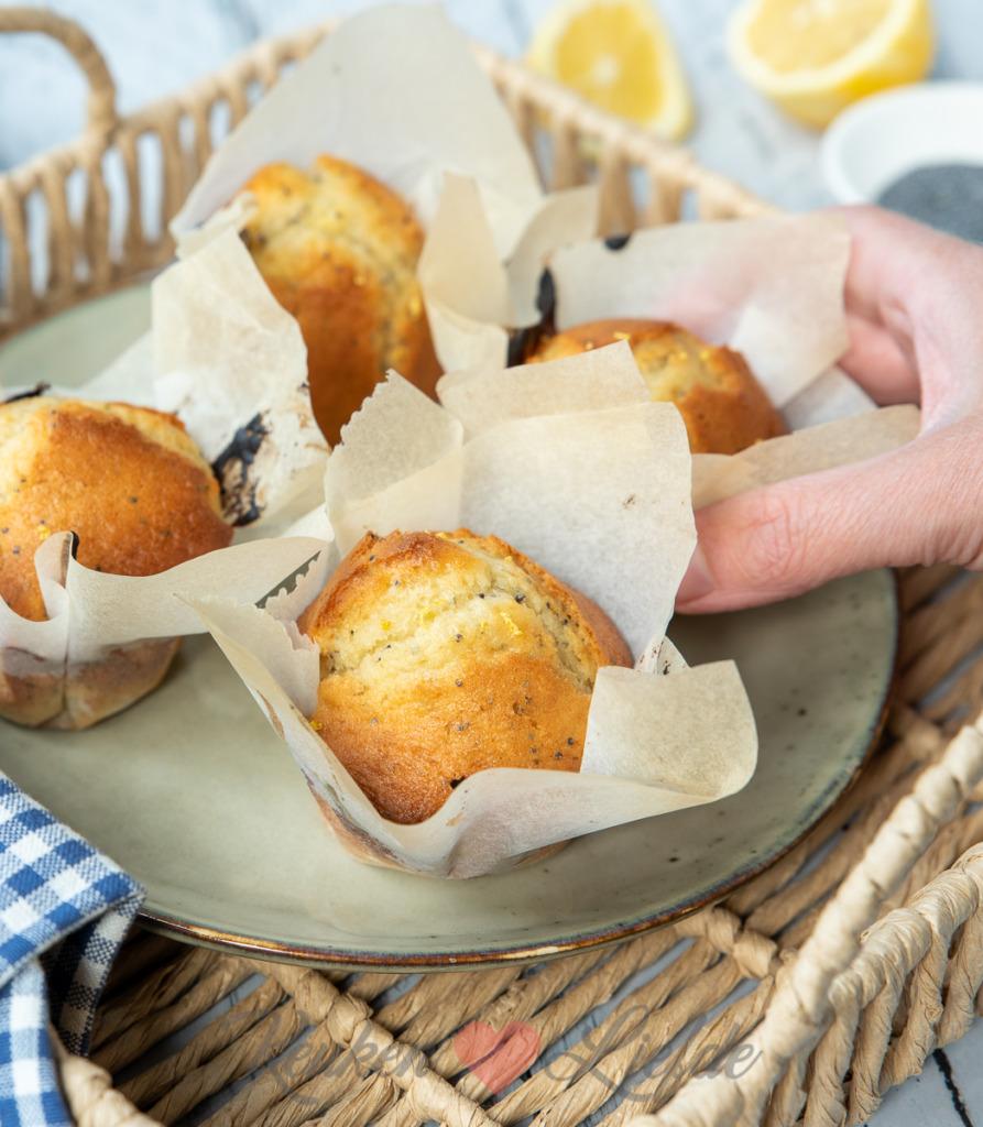 Yoghurt citroen muffins (uit'Zoet')