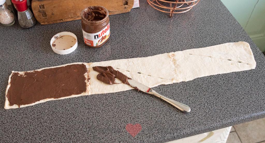 Snelle babka met Nutella