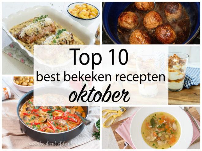 Top 10 best bekeken recepten oktober 2020