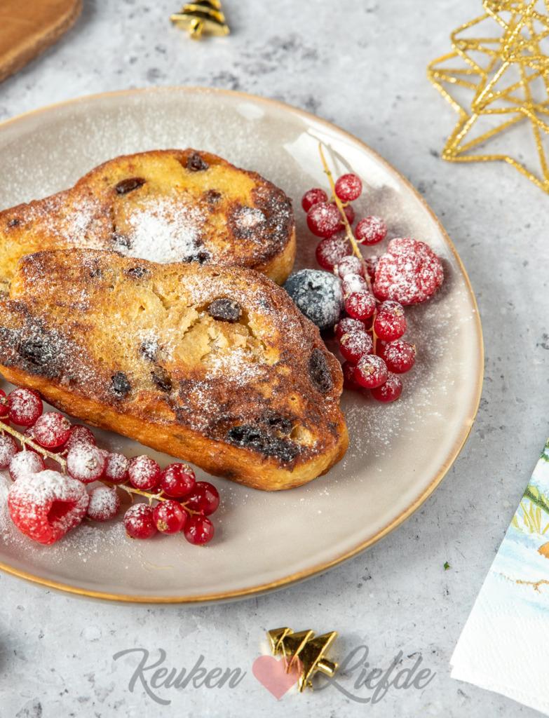 Kerstbrood wentelteefjes