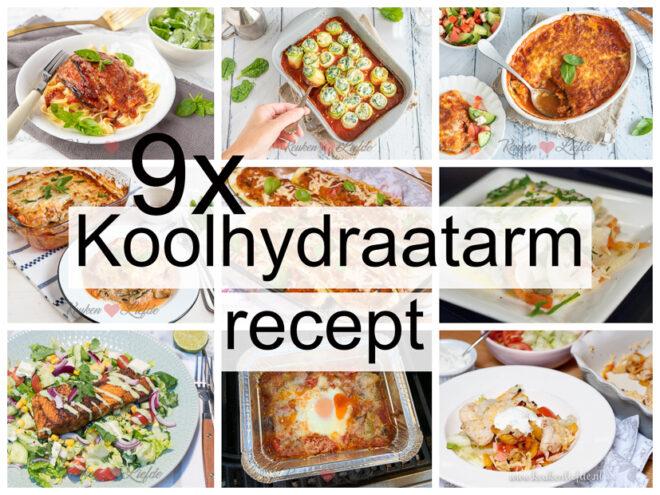 9x koolhydraatarm recept