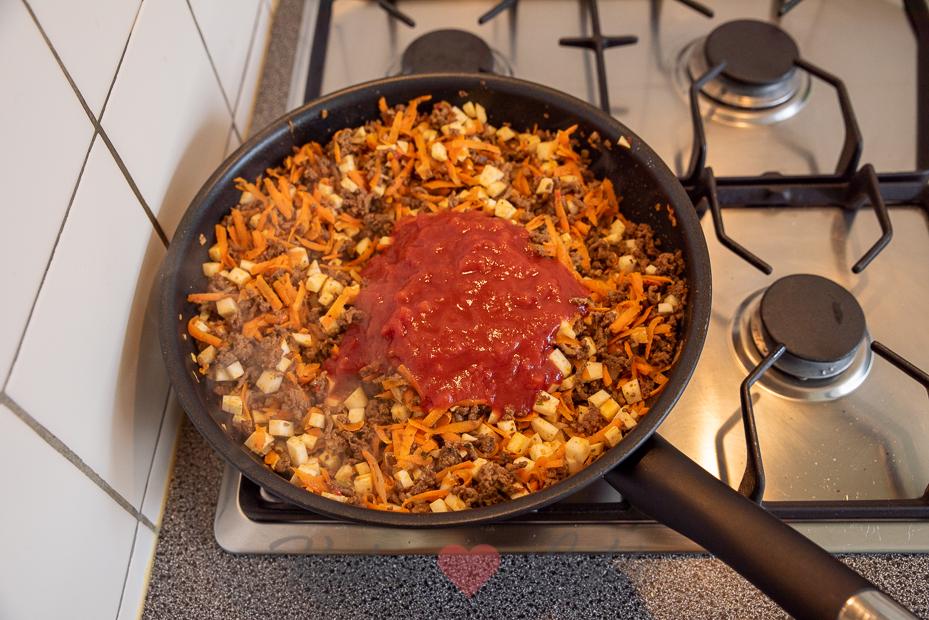 Mexicaanse wraps met gehakt en groenten
